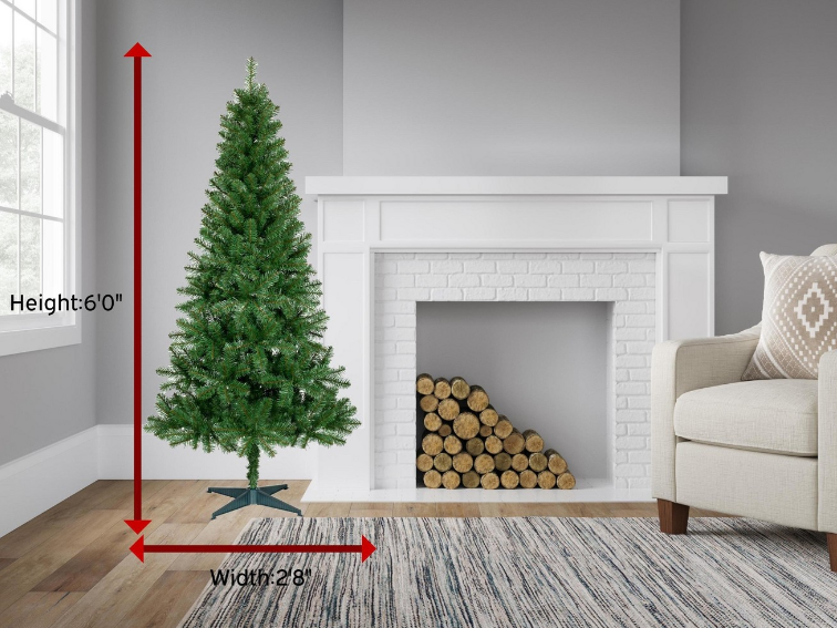 Target.com – 6ft Unlit Slim Artificial Christmas Tree Alberta Spruce Only $24 (Reg $40) + Free Shipping!