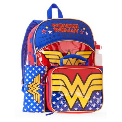 Walmart – Wonder Woman 5-Piece Backpack Set with Lunchbag Only $8.88 (Reg $14.88) + Free Store Pickup