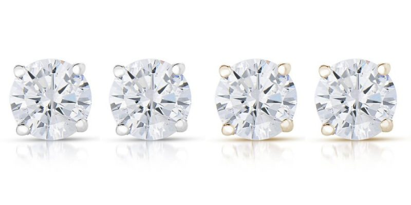 Walmart – Vir Jewels 1/4 cttw Round Diamond Stud Earrings 14K White Gold (I2-I3 Clarity) Only $79.99 (Reg $119.99) + Free Shipping