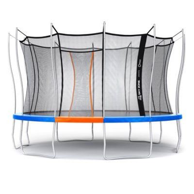 Walmart – Sky Zone Powered by Vuly 14-Foot Trampoline, Self-Closing Door, Blue Only $349.99 (Reg $679.99) + Free Shipping