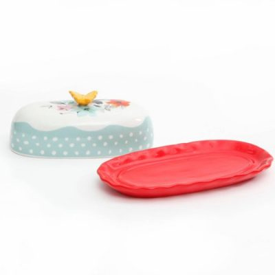 Walmart – The Pioneer Woman Flea Market Decorated Floral 6.4″ Butter Dish Only $5.99 (Reg $9.50) + Free Store Pickup