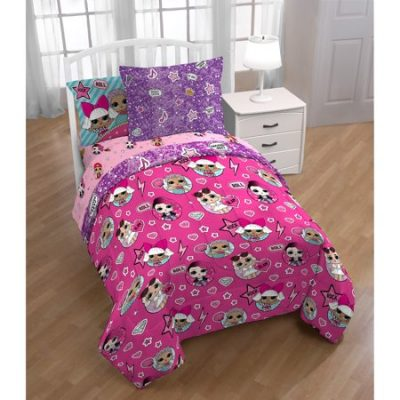 Walmart – L.o.l. Surprise! Glamour Girls Kids Bedding Set With Bonus Tote, Twin Only $29.98 (Reg $39.98) + Free Store Pickup