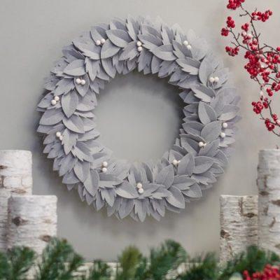 Walmart – Belham Living Neutral Felt Christmas Wreath Only $9.99 (Reg $39.99) + Free Store Pickup