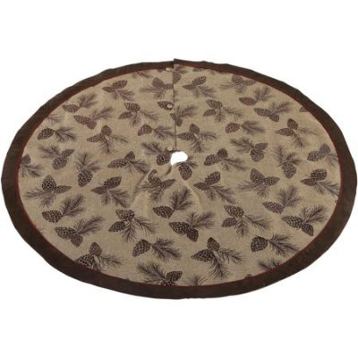 Walmart – Holiday Time Premium 56-Inch Diameter Tree Skirt with Lodge Pinecone Detailing Only $14.99 (Reg $36.00) + Free Store Pickup
