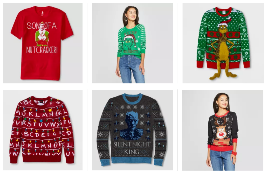 Target – 40% Off Ugly Christmas Sweaters & Tees + Free Shipping! (In-Store & Online) + Men's Ugly Sweater TeesOnly $6 Shipped!