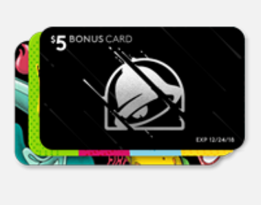 $10 Taco Bell eGift Card + $5 Bonus Card For Only $10 ( That's $5 In FREE Food)