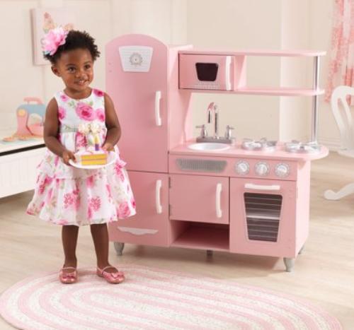 Walmart.com - KidKraft Vintage Play Kitchen in Pink Only ...