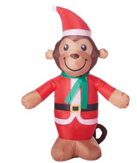 Walmart.com – Holiday Time Inflatable Monkey, 4′ Only $7.99, Reg $14.97 + Free Store Pickup!