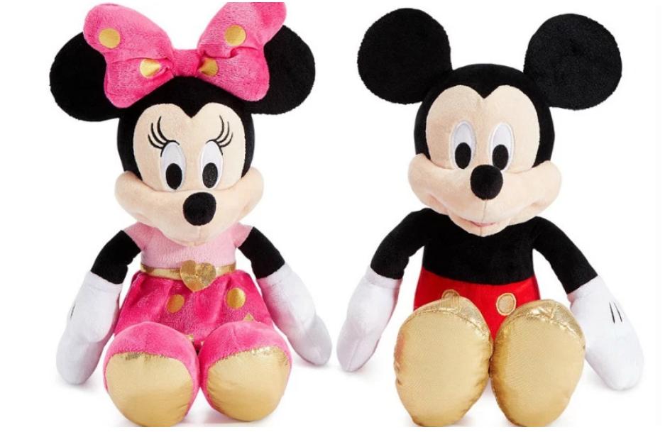 Macys.com – Disney Mickey or Minnie Mouse 16″ Plush Only $7.99, Reg $30 + Free Store Pickup!