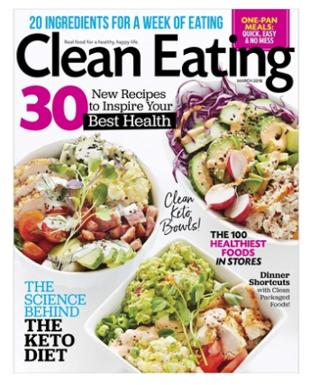 Clean Eating Magazine – Six Months Print Subscription Only $5.60 Delivered