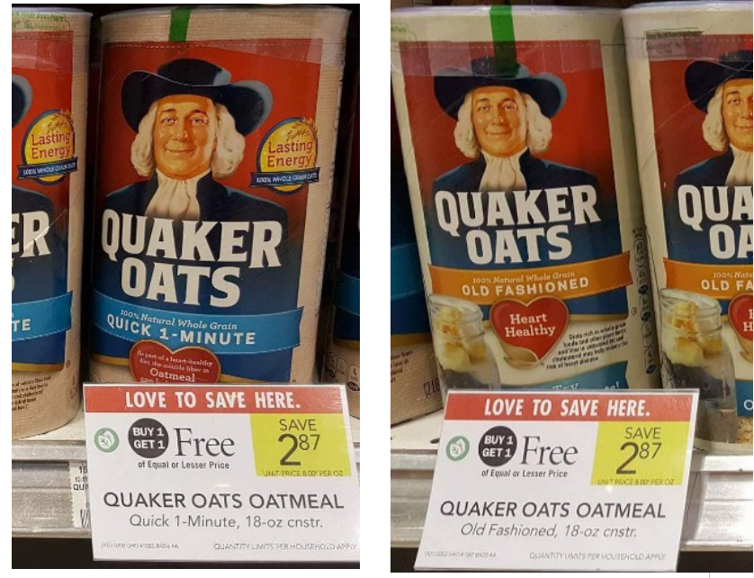 image regarding Quaker Printable Coupons named Publix - Quaker Oats Oatmeal (18 oz canister) Simply just 23¢ Every