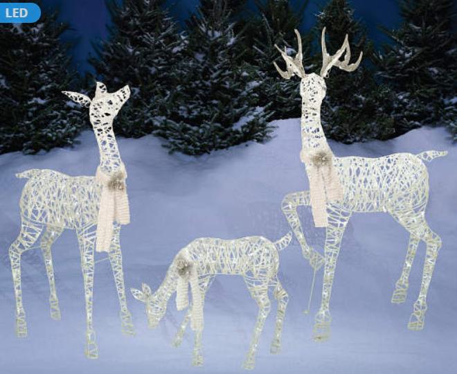 Big Lots- Winter Wonder Lane White Light-Up LED Deer Family, 3-Piece SetOnly $60.00, Reg $140 (50% Off)