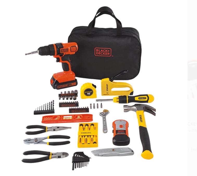 Walmart.com – Stanley Black+Decker 20-Volt MAX 85-Piece Drill Kit Only $45.00, Reg $99.99 + Free Shipping!