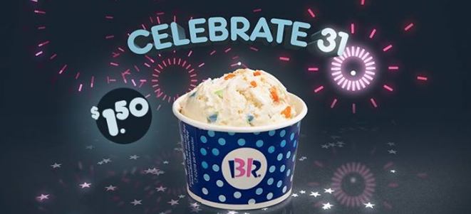 Baskin Robbins – (TODAY ONLY!) $1.50 Ice Cream Scoops