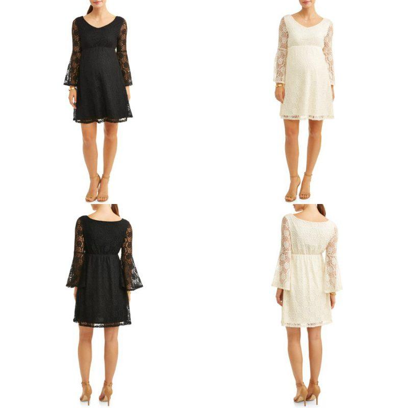 Walmart – Liz Lange Maternity Flare Sleeve Lace Dress Only $8.50 (Reg $23.99) + Free Store Pickup!