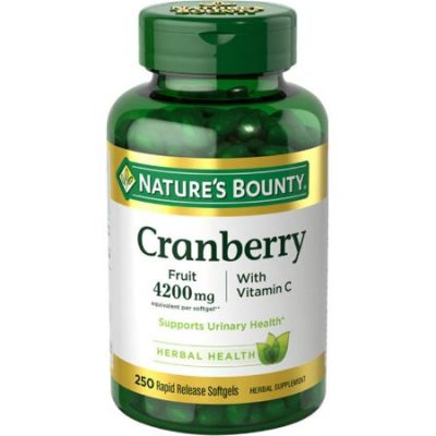 Walmart – Nature's Bounty Cranberry Fruit Plus Vitamin C Herbal Only $15.12 (Reg $20.89) + Free Store Pickup
