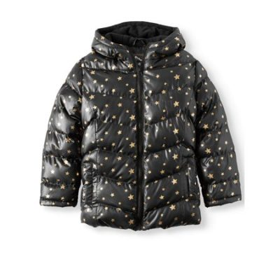 Walmart – Climate Concepts Girls' Metallic Star Print Bubble Jacket Only $11.50 (Reg $29.98) + Free Store Pickup