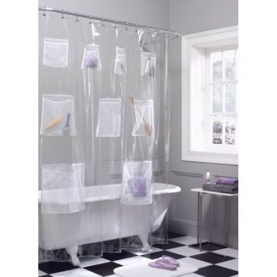 Walmart – Maytex Mesh Pockets PEVA Storage Shower Curtain Only $10.98 (Reg $19.00) + Free Store Pickup