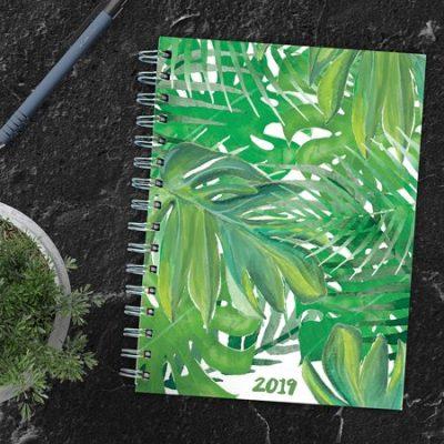 Walmart – Jungle Leaves January – December 2019 Calendar Planner Only $11.99 (Reg $14.99) + Free Store Pickup