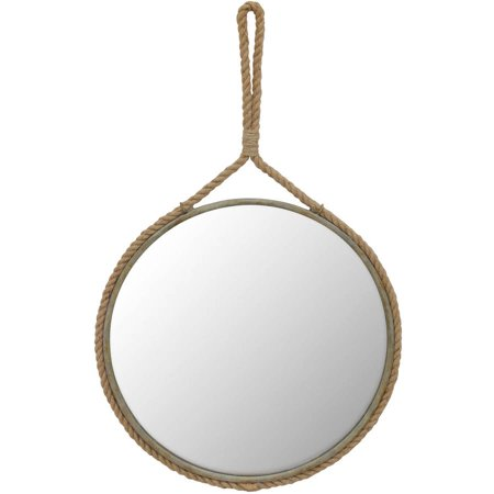 Walmart – Stonebriar Collection Suspended Round Mirror with Rope Handle Only $43.19 (Reg $51.09) + Free Shipping