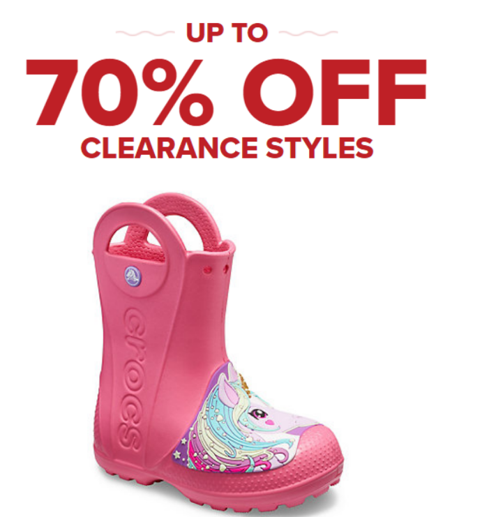 Crocs –  70% Off Select Clearance Styles = Kids' Crocs Fun Lab Creature Rain Boots Only $13.99, Reg $34.99