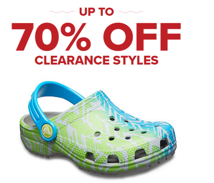 2510730d1 Hurry over to Crocs.com where now through 1 06 18 they are offering up to  70% off select clearance styles. Save an additional  15 off your  75 or  more order ...