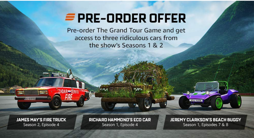 The Grand Tour Game Pre-Order (Xbox One Digital Download) Only $15 At Amazon