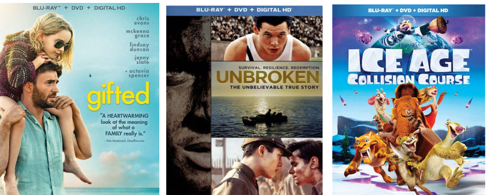 Bestbuy.com – Blu-ray Movies Only $4 w/Free Store Pickup! Gifted, Unbroken, Ice Age And More!