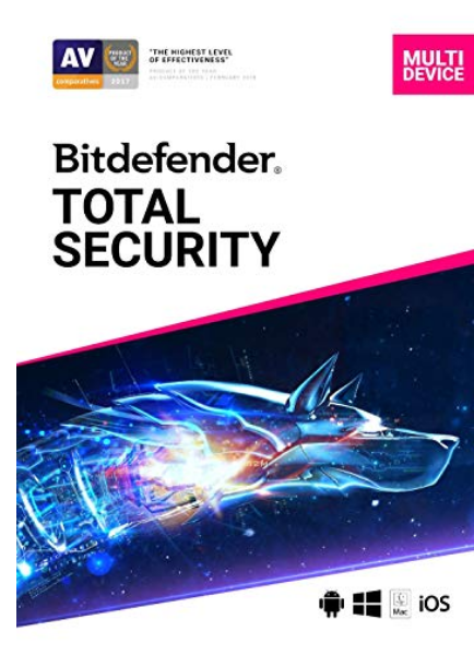 Bitdefender Total Security (For Up To 10 Devices) Download (PC/Mac Online Code) Only $54, Reg $170