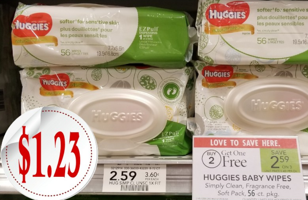 Publix – Huggies Baby Wipes 56ct Package Only $1.23 each W/ Printable Coupon – PRINT YOUR COUPONS NOW!!