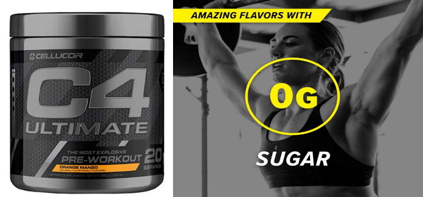 Cellucor C4 Ultimate Pre-Workout Powder w/ Beta Alanine (20 Servings) (Mango) Only $16 + Free Shipping!