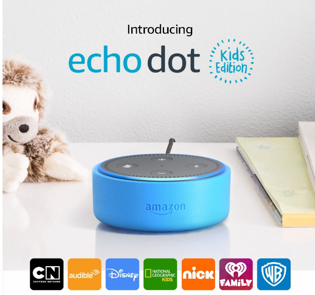 Echo Dot Kids Edition Only $39.99, Reg $69.99 + Free Shipping! Plus FREE 1 year Amazon FreeTime Unlimited Membership