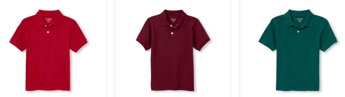 The Children's Place – Up to 80% Off ALL Clearance Items + FREE Shipping! School Uniforms Polo Shirts Only $5.57 Each