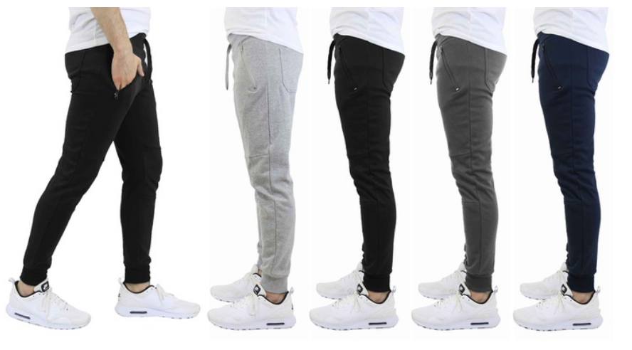 Men's French Terry Joggers with Zipper Pockets (3-Pack) Only $29.99, Reg $149.00 + $3.99 Shipping!