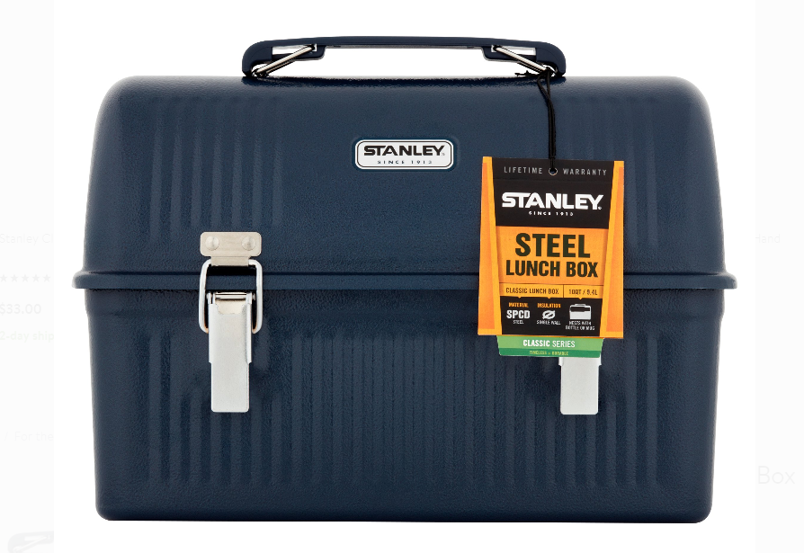 Walmart – Stanley 10 qt Steel Classic Lunch Box Only $16.57 + Free Store Pickup!