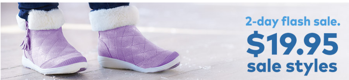 Stride Rite–Flash Sale – Select Boots, Shoes and Sandals Only $19.95 + 20% Off Code!