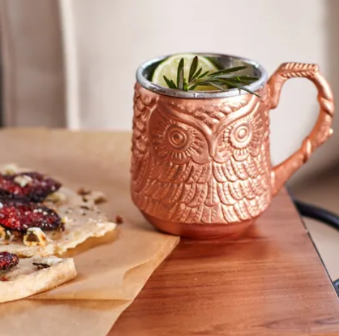 Pier1.com  – Owl Moscow Mule Mug (Copper & Metal Collection) Only $4.98, Reg $19.95 + Free Store Pickup!