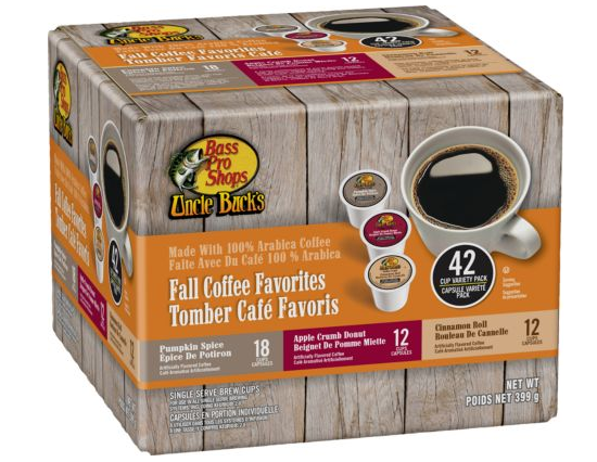 Cabela's – Uncle Buck's 42 Count Fall Variety Coffee Pods Only $3.97, Reg $18
