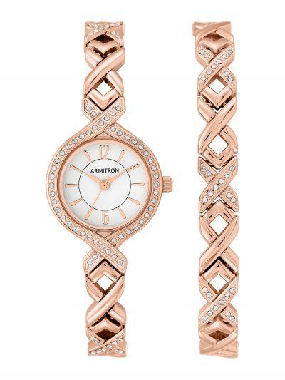 Walmart – Armitron Women's Rose Gold Round Dress Watch Set Only $39.99 (Reg $80.00) + Free 2-Day Shipping