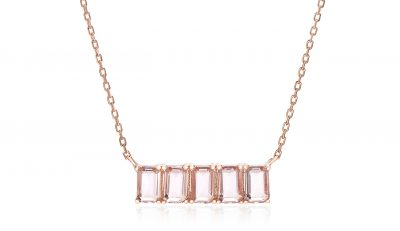 Walmart – Lesa Michele 5 Baguette Cut Simulated Morganite Necklace Only $10.88 (Reg $13.99) + Free Store Pickup
