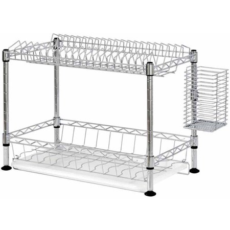 Walmart – Two-Tier Wire Dish Rack Only $20.32 (Reg $25.88) + Free Store Pickup
