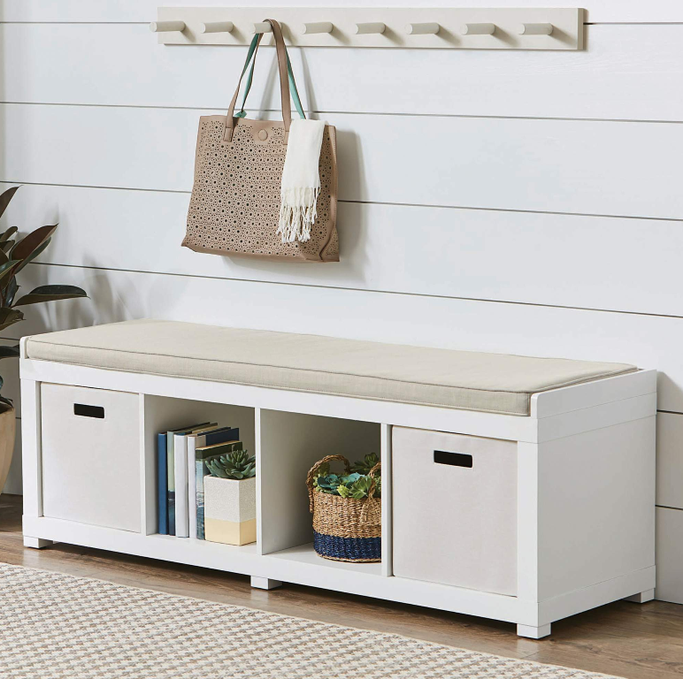 Walmart.com – Better Homes and Gardens 4-Cube Organizer Storage Bench Only $59.00, Reg $100.00 + Free Shipping!