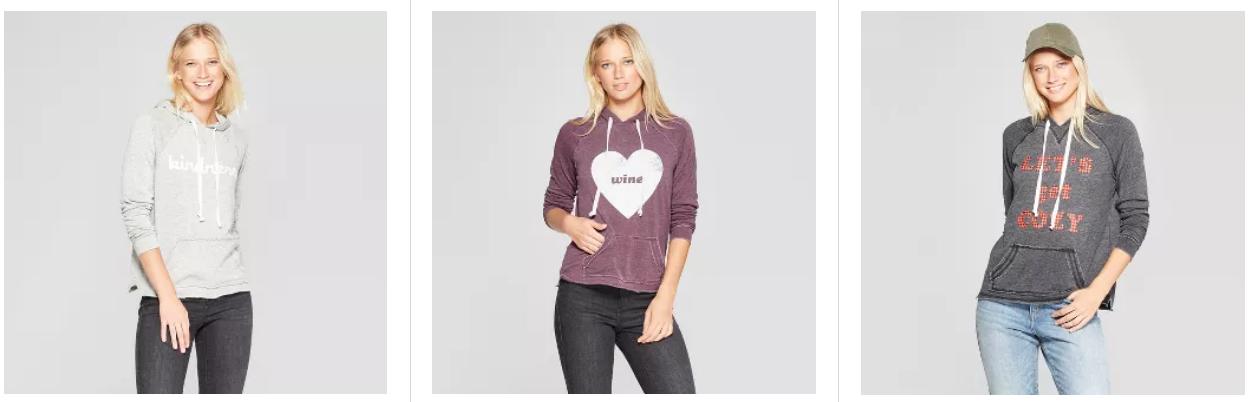 Target.com – Women's Graphic Hoodies Only $11, Reg $25 + Free Store Pickup!