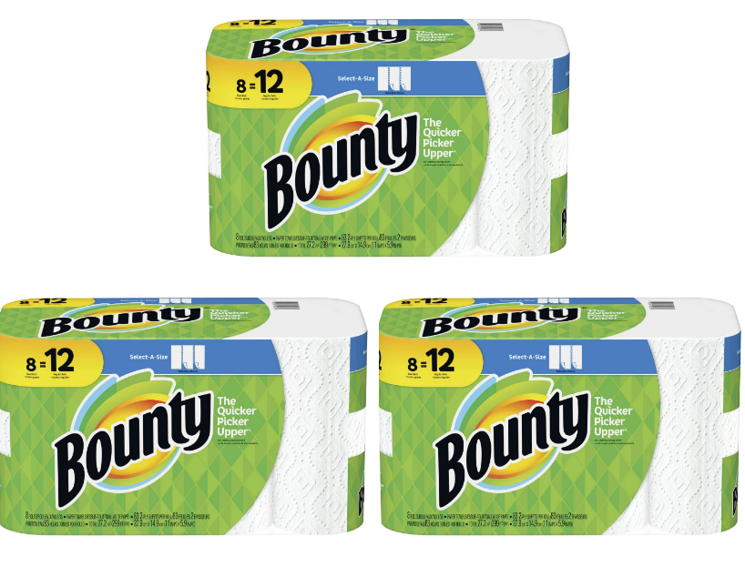 Target.com – 24-Ct Bounty Select-A-Size Giant Roll Paper Towels Only $21.47 + Free Store Pickup!