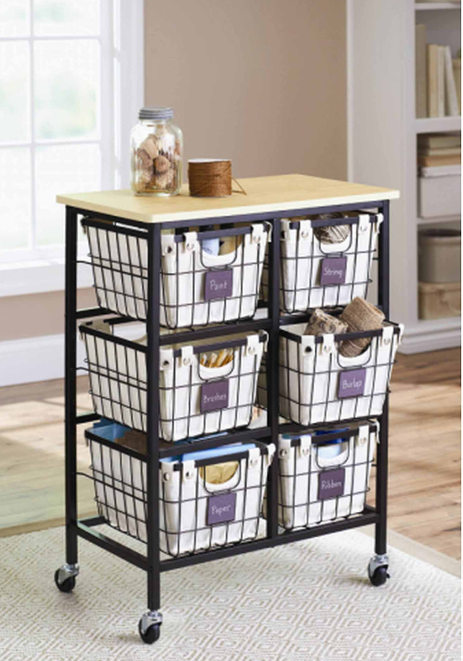 Walmart.com – Better Homes and Gardens 6-Drawer Wire Rolling Cart Only $60.56 + Free Shipping!