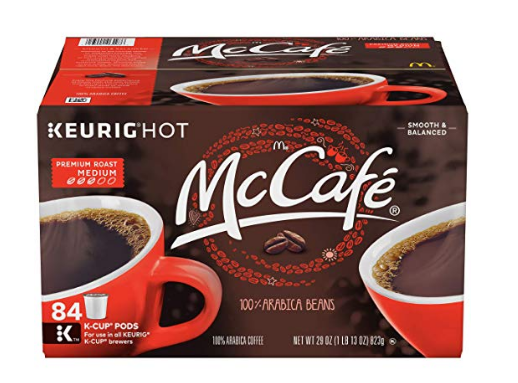Amazon – McCafe Premium 84-Count K-Cups Only $23 (27¢ Each) + Free Shipping!