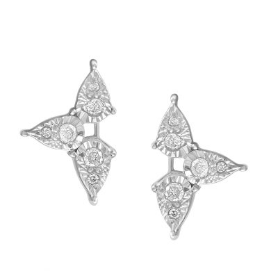 Walmart – Sterling Silver 1/6 CTTW Diamond Trifoglio Earring Only $99.77 (Reg $139.99) + Free 2-Day Shipping