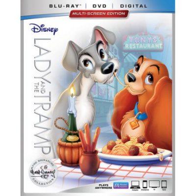 Walmart – Lady and the Tramp Blu-ray + DVD + Digital Only $22.71 (Reg $24.96) + Free Store Pickup