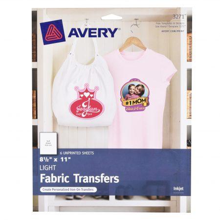 Walmart – Avery Fabric Transfer Light 6pc Only $5.89 (Reg $11.26) + Free Store Pickup