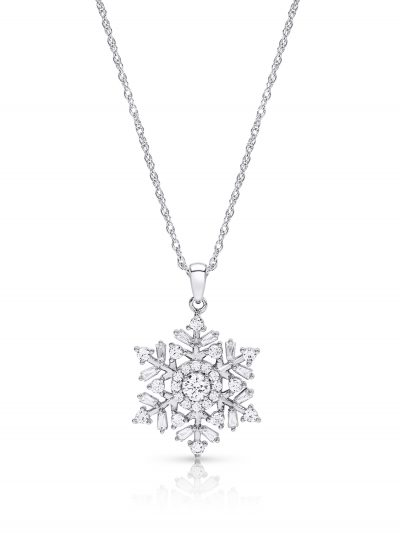 Walmart – Sterling Silver Cubic Zirconia Snowflake Pendant Only $49.77 (Reg $59.99) + Free 2-Day Shipping